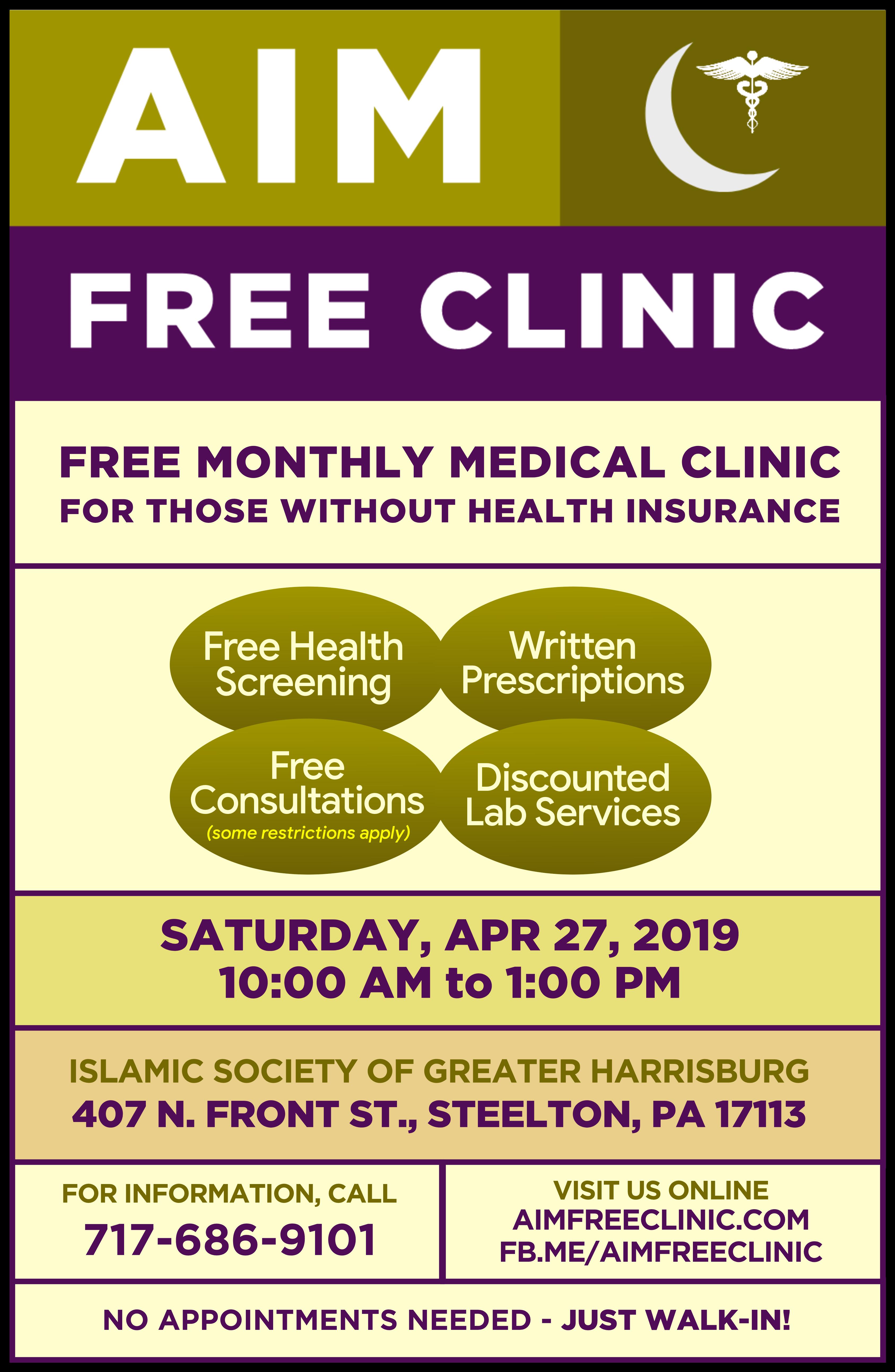 Aim clinic poster apr 2019