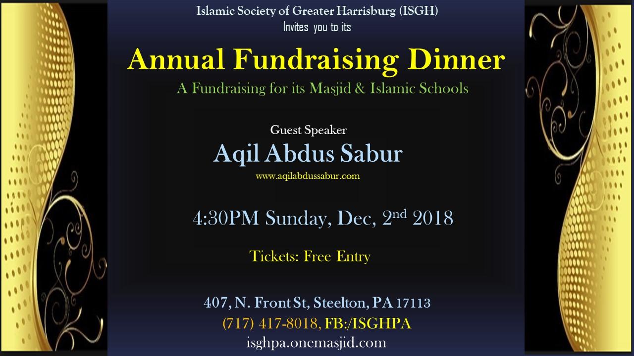 Annual fundraising dinner2018