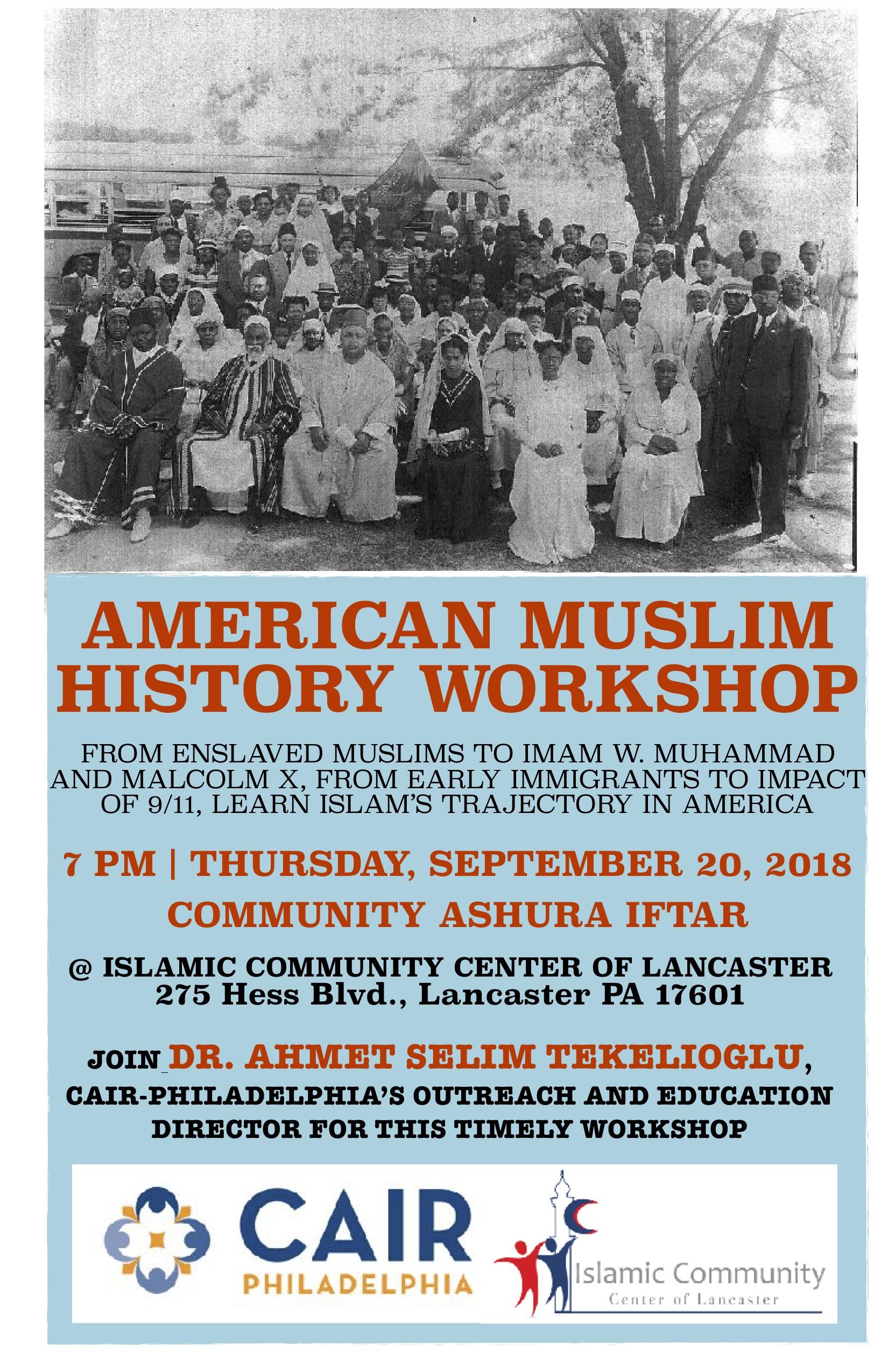 Iccl american muslim history september 20 flier